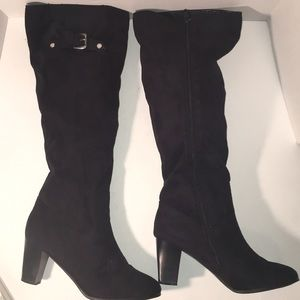 🎉SALE 2/$50 3/$60 Tall Black Faux Suede Boots 11